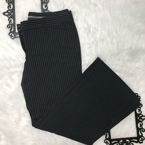 Express Striped Editor Flare Pants Size 10s